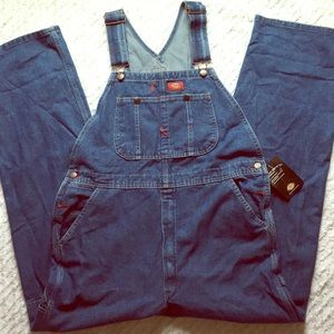 Dickies Overalls Coveralls NEW 34x32 Denim